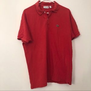 Lacoste Red Classic Fit Short Sleeve Polo Sz XL